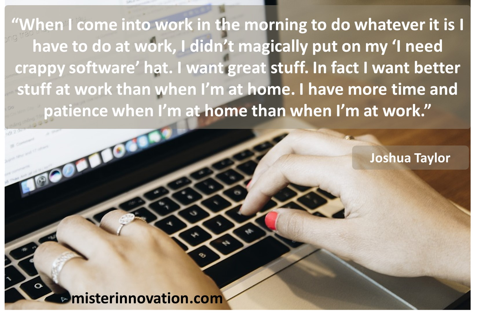 Joshua Taylor Quote on Good Software Design