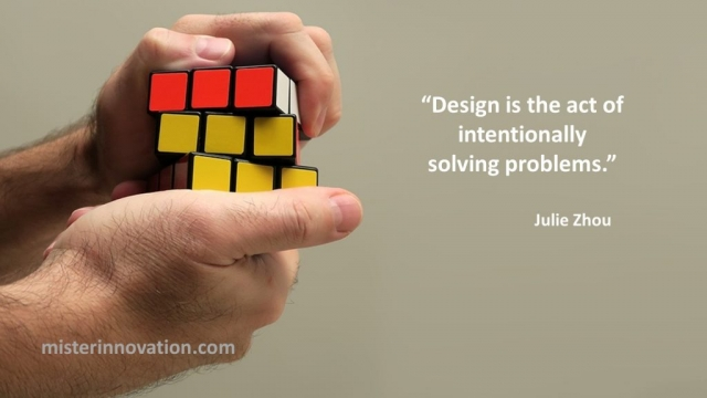Julie Zhou Quote on Design Intentionally Solving Problems