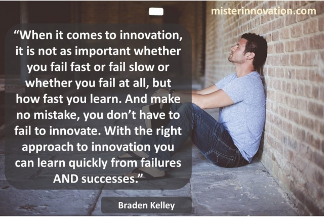 Learn Fast Not Fail Fast Quote from Braden Kelley