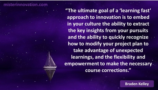 Braden Kelley Quote on Learning Fast Innovation and Project Management