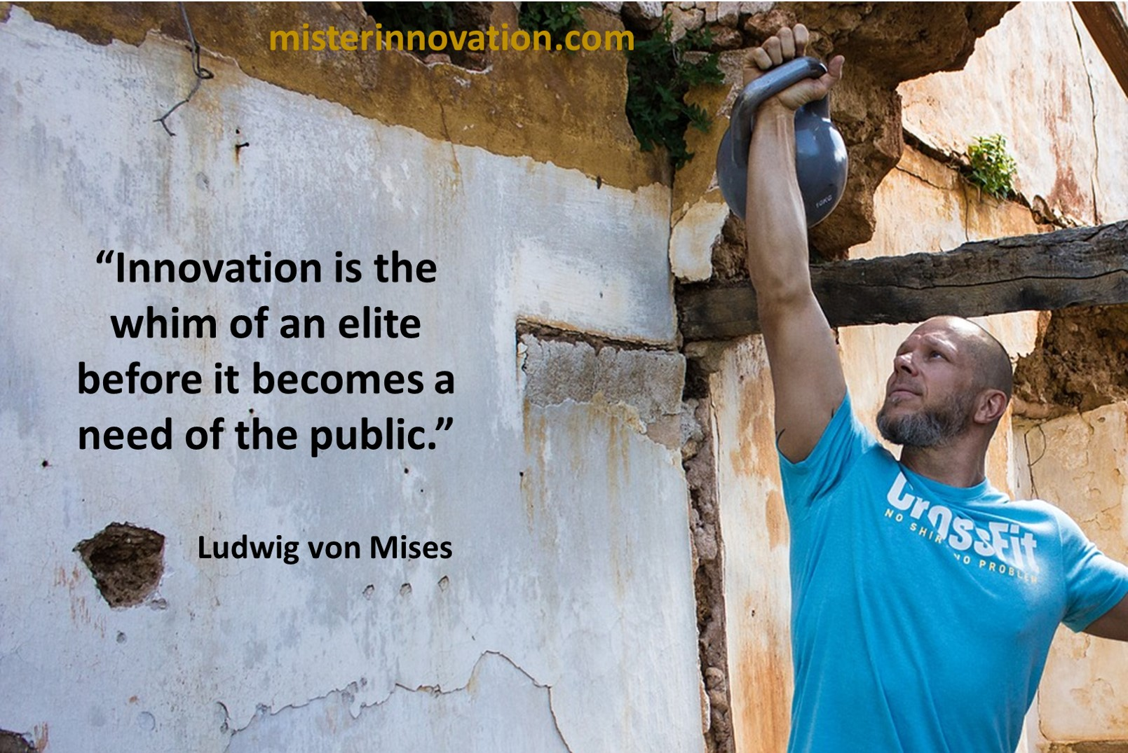 Ludwig von Mises Quote on Innovation is a Whim