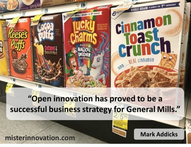 Quote from Mark Addicks of General Mills on Open Innovation