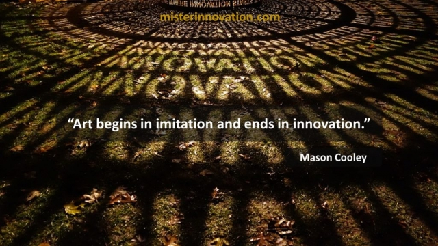 Mason Cooley Quote on Art Imitation and Innovation