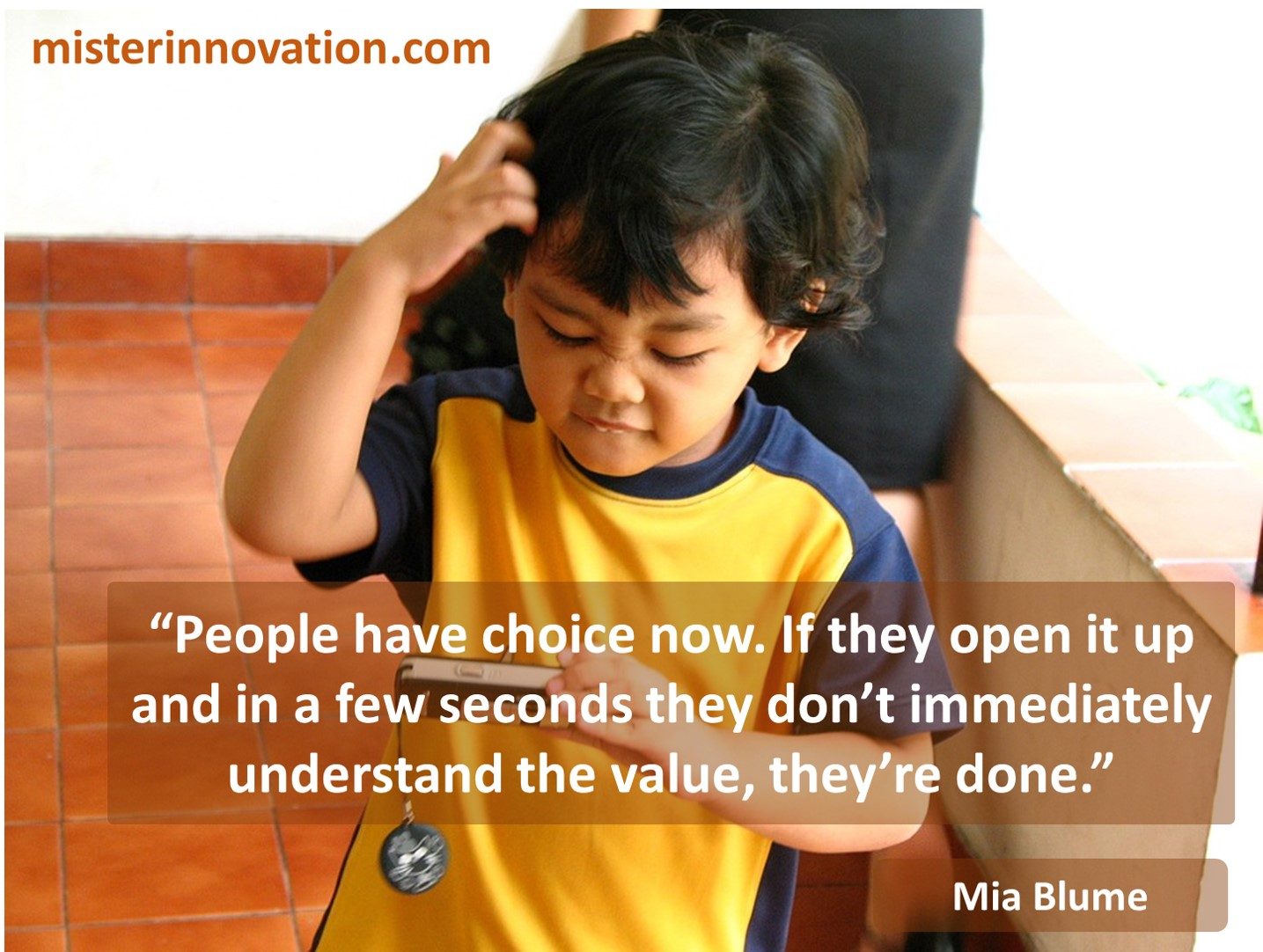 Mia Blume quote about abundant choice