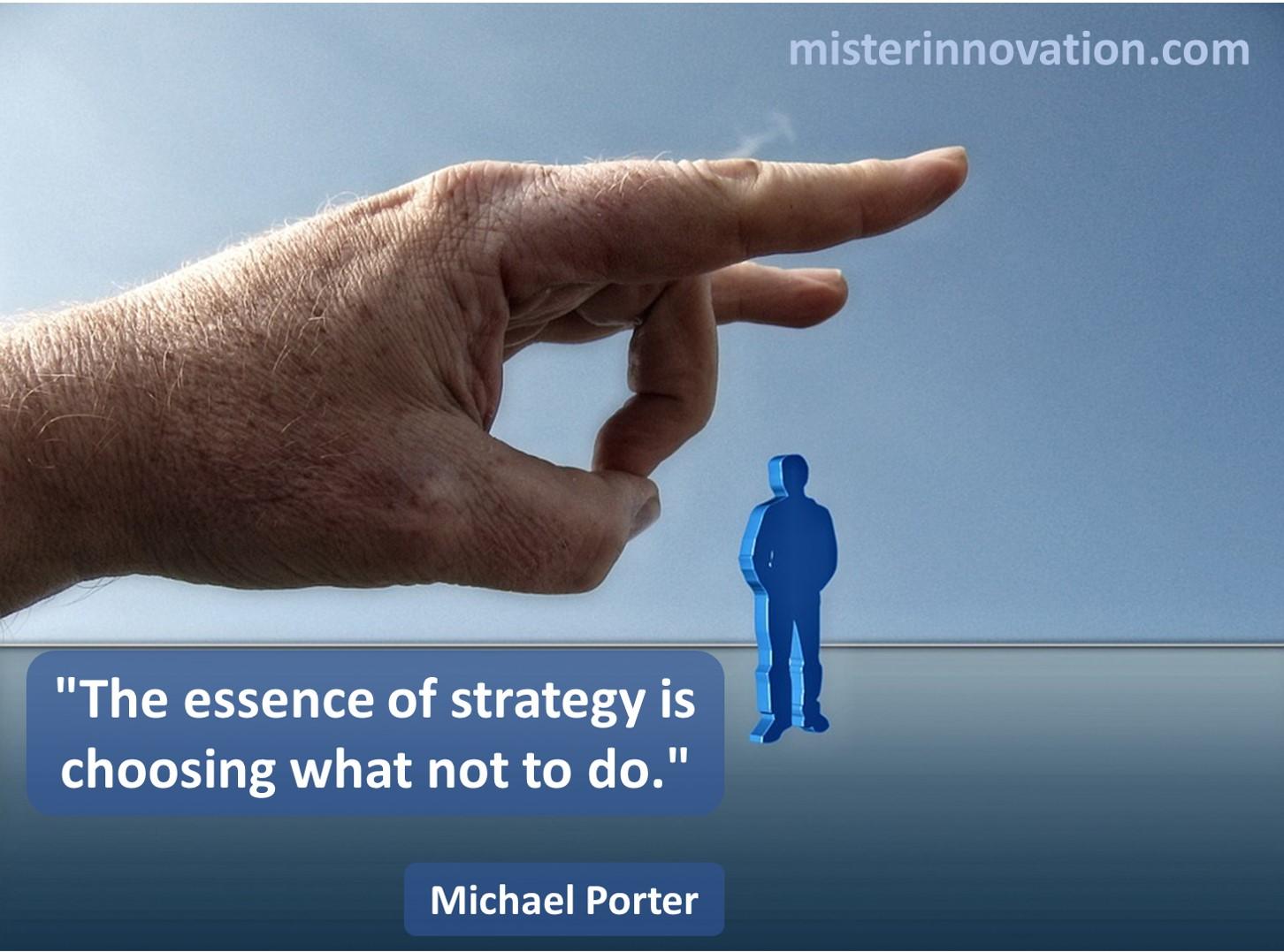 Michael Porter Choose Not to Do