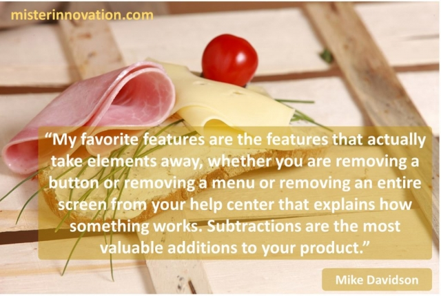 Mike Davidson Quote on Design Feature Subtraction