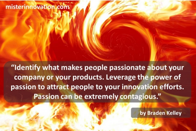 Braden Kelley quote about Innovation and Contagious Passion