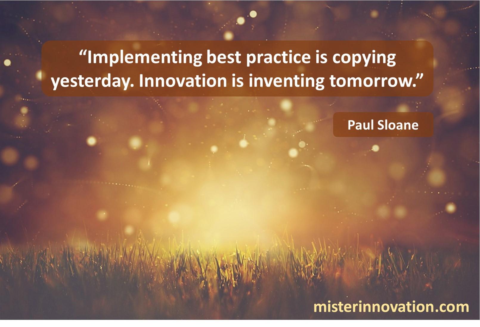 Paul Sloane Best Practice