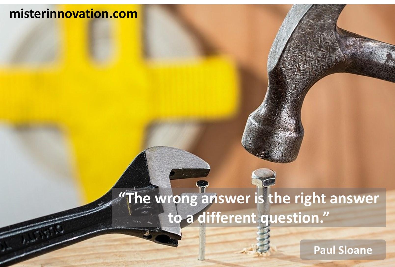 Paul Sloane Wrong Answer
