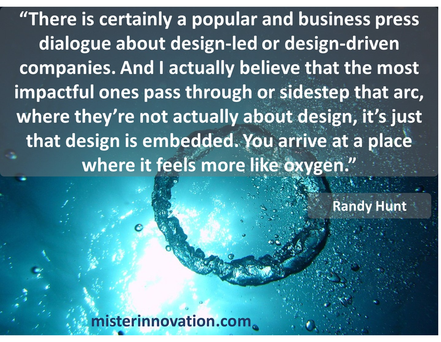 Randy Hunt quote on design driven innovation