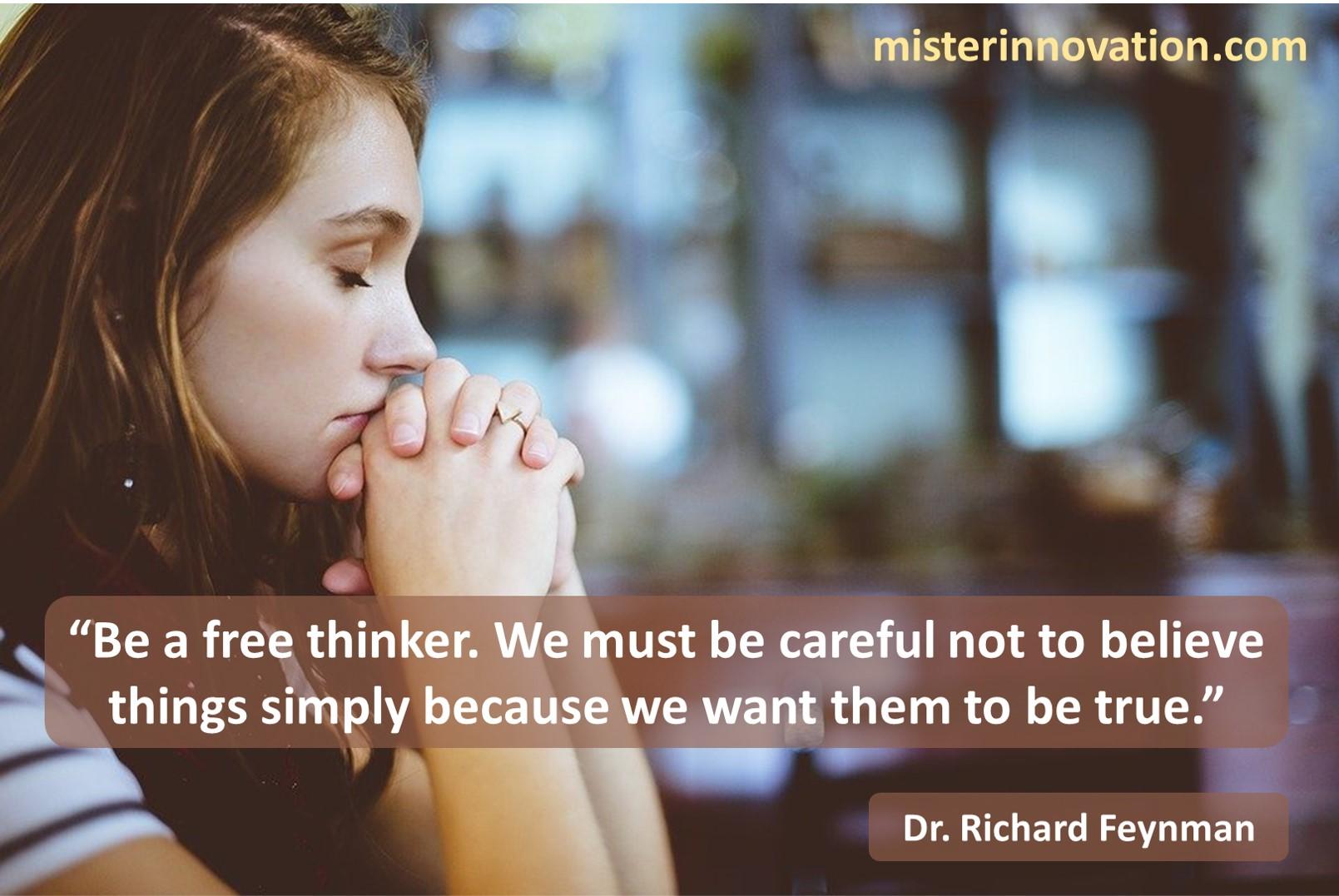 Richard Feynman Free Thinking