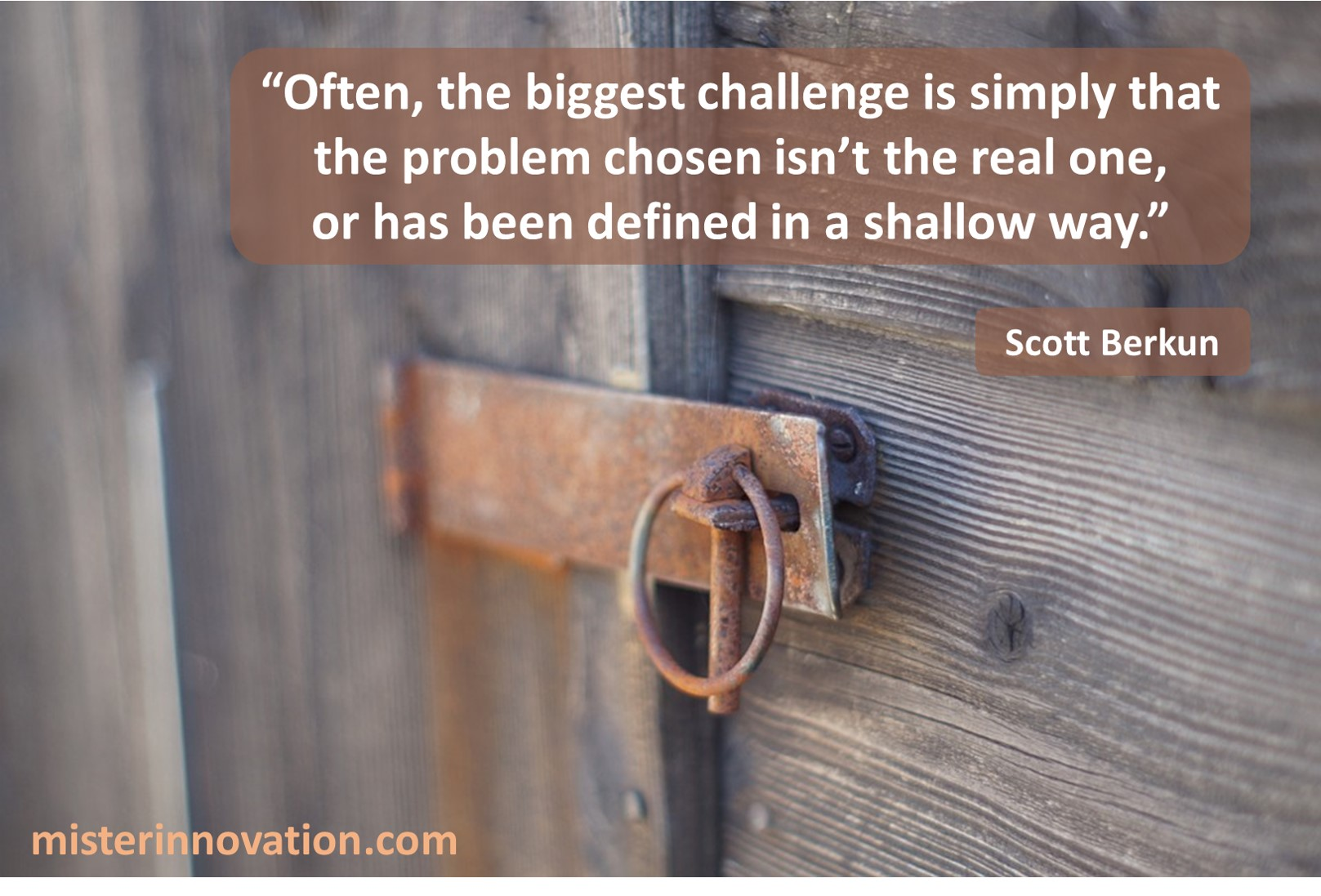 Scott Berkun Biggest Challenge