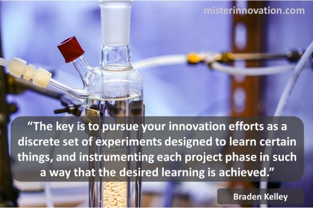 Braden Kelley Quote on Learning from a Set of Innovation Experiments