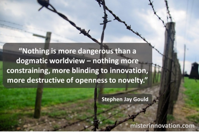 Stephen Jay Gould Quote on Dogma versus Innovation and Novelty