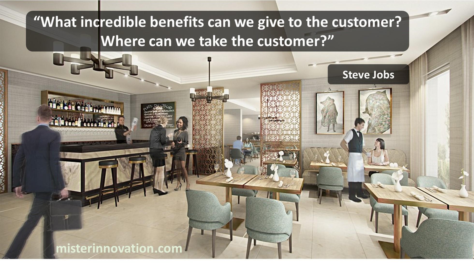 Steve Jobs Customer Benefits