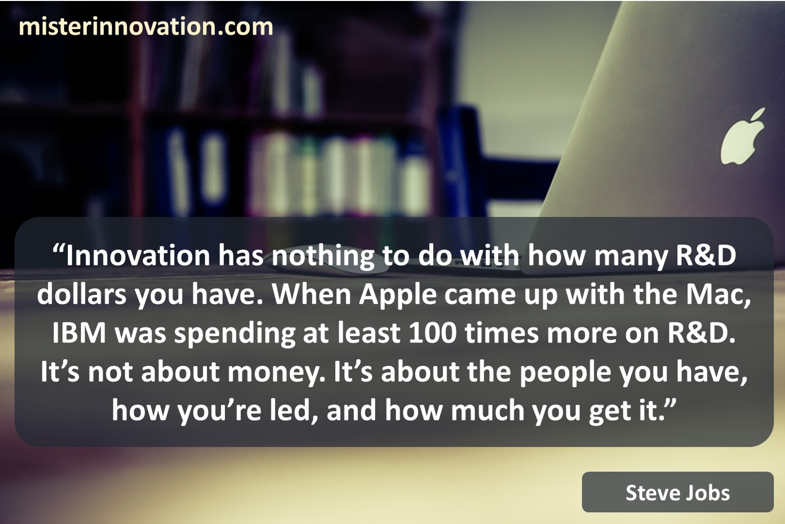Steve Jobs Quote on Innovation vs Research