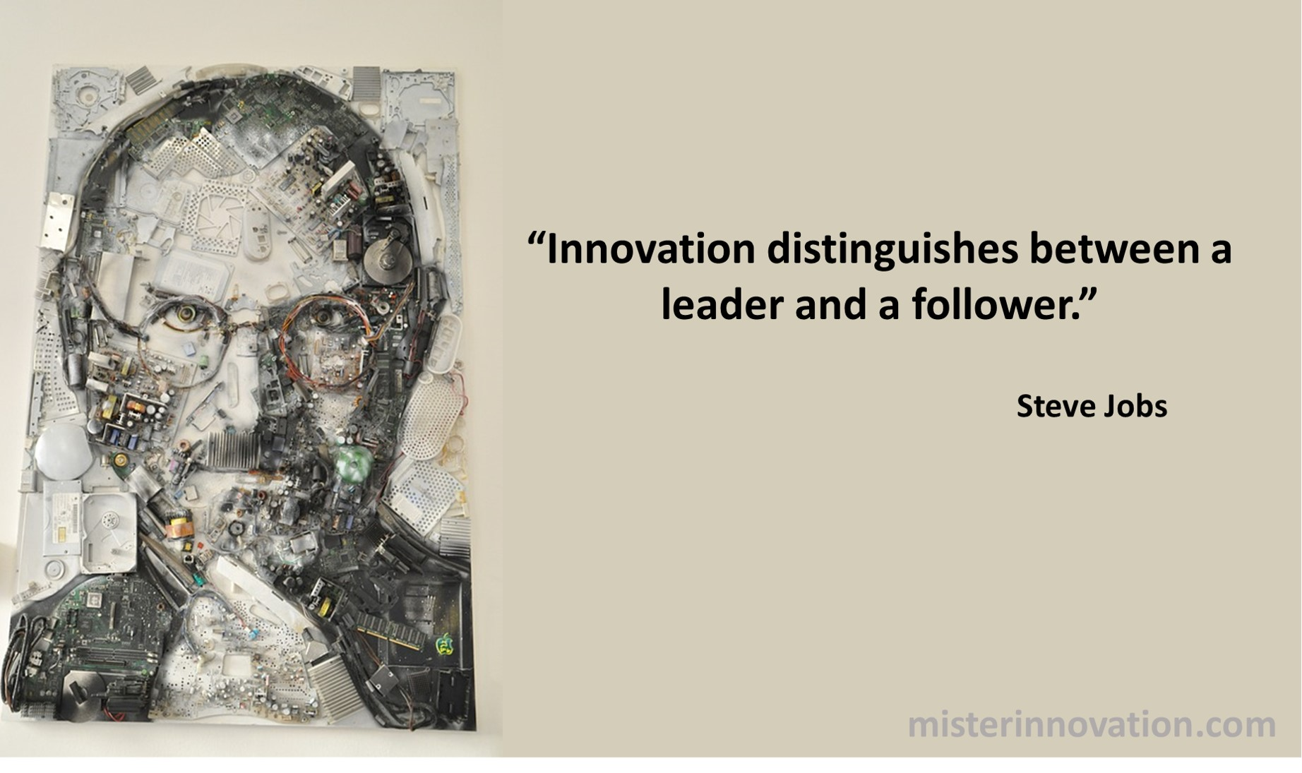 Steve Jobs Quote on Innovation Leaders and Followers
