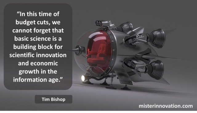 Tim Bishop Quote on Scientific Innovation and Economic Growth