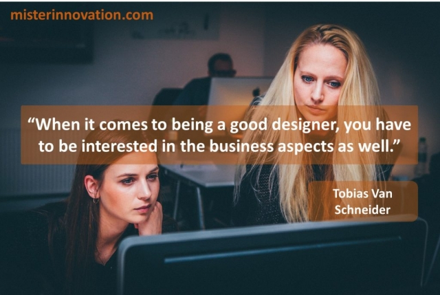 Tobias Van Schneider quote on design and business