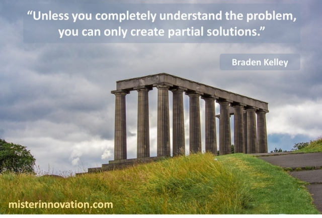 Problem Solving and Creative Solution Quote from Braden Kelley