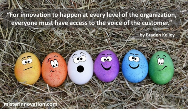 Braden Kelley Quote on Voice of the Customer and Innovation