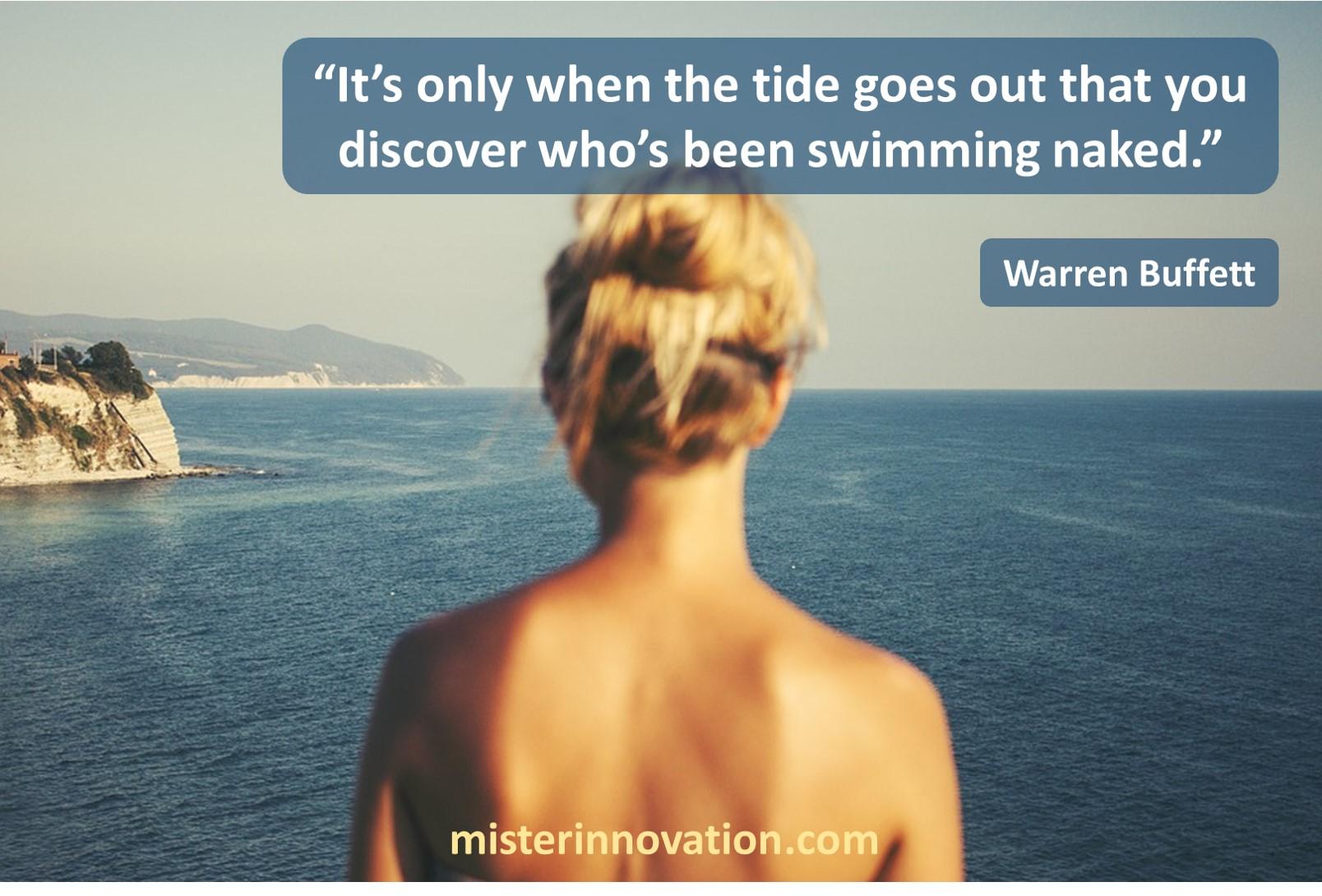 Warren Buffett Swimming