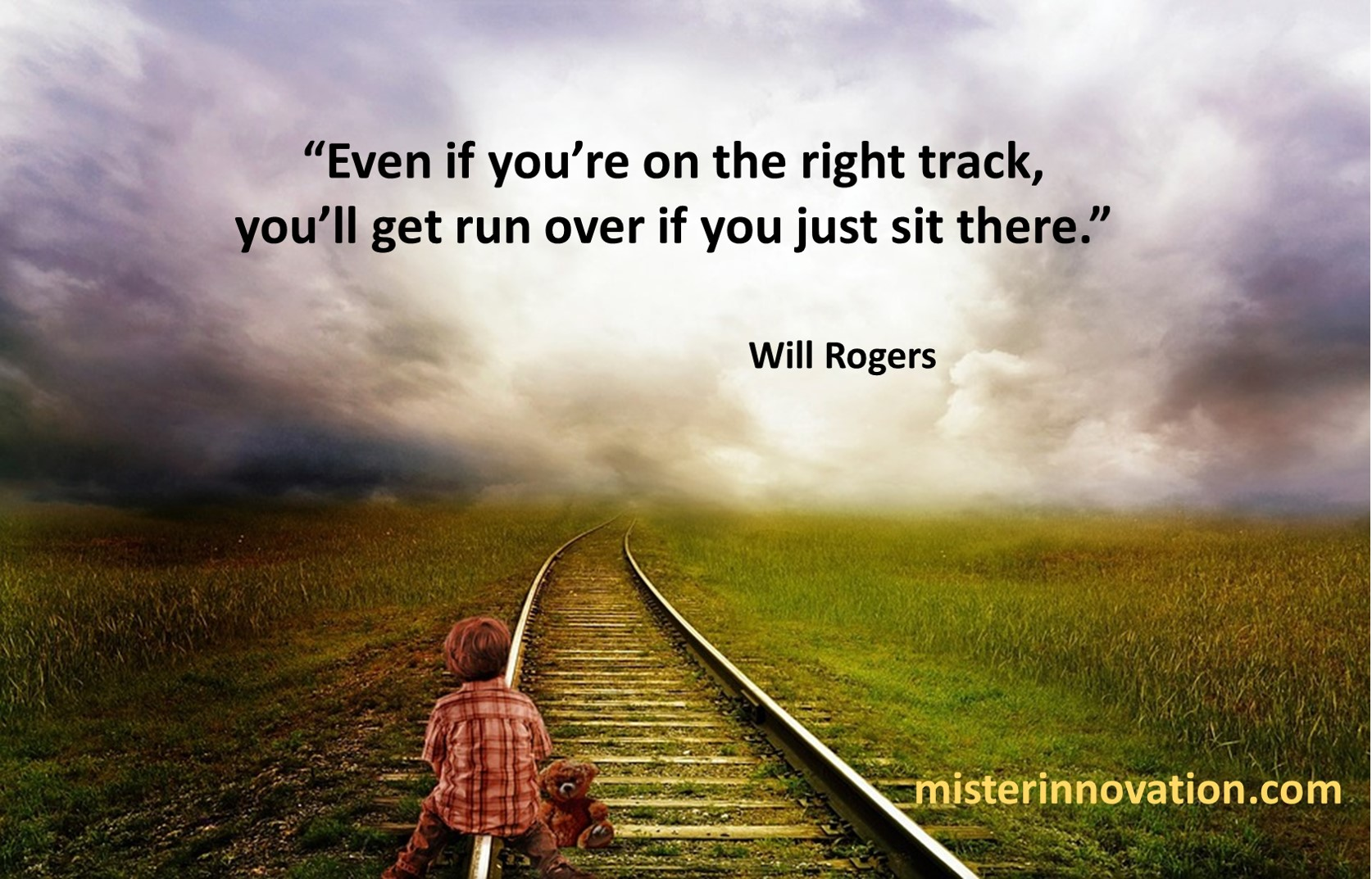 Will Rogers Right Track Run Over