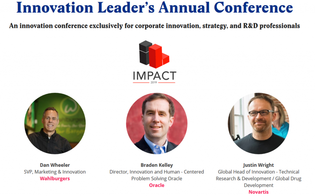 Join Braden Kelley at Innovation Leader's IMPACT 2019 in San Francisco