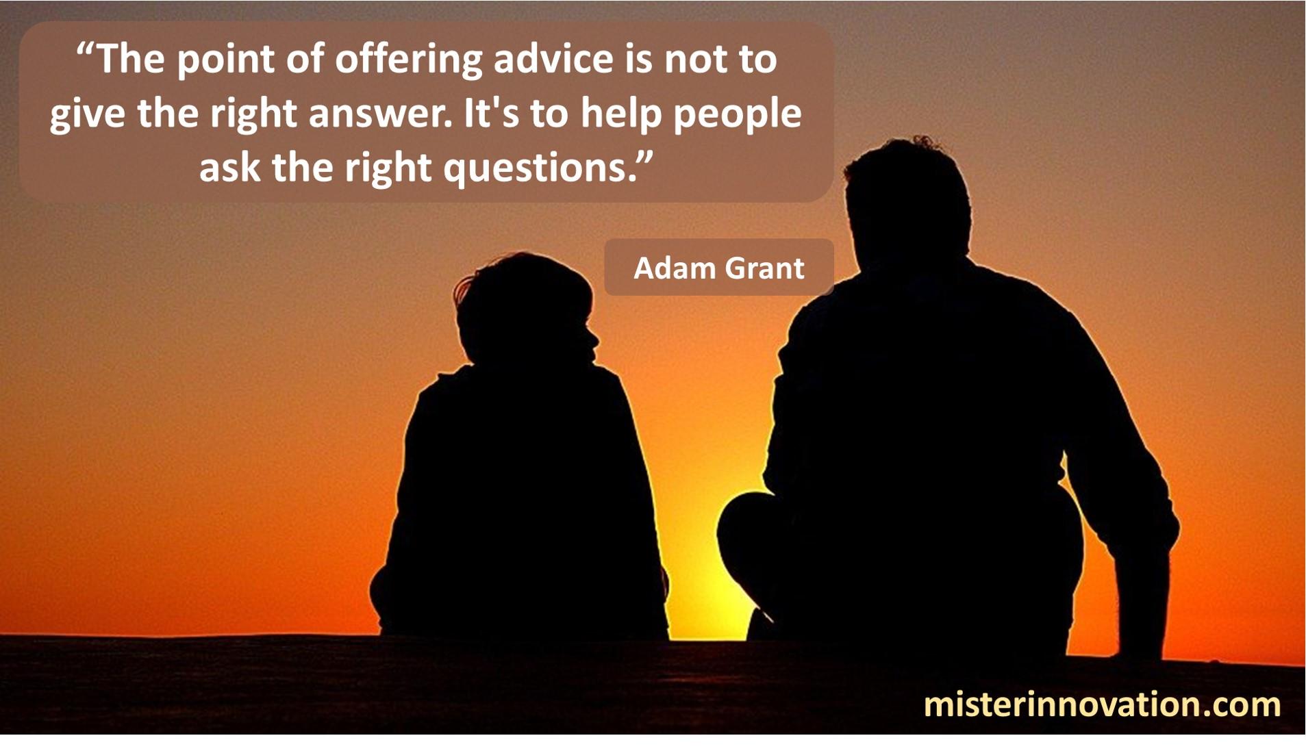 Adam Grant Advice