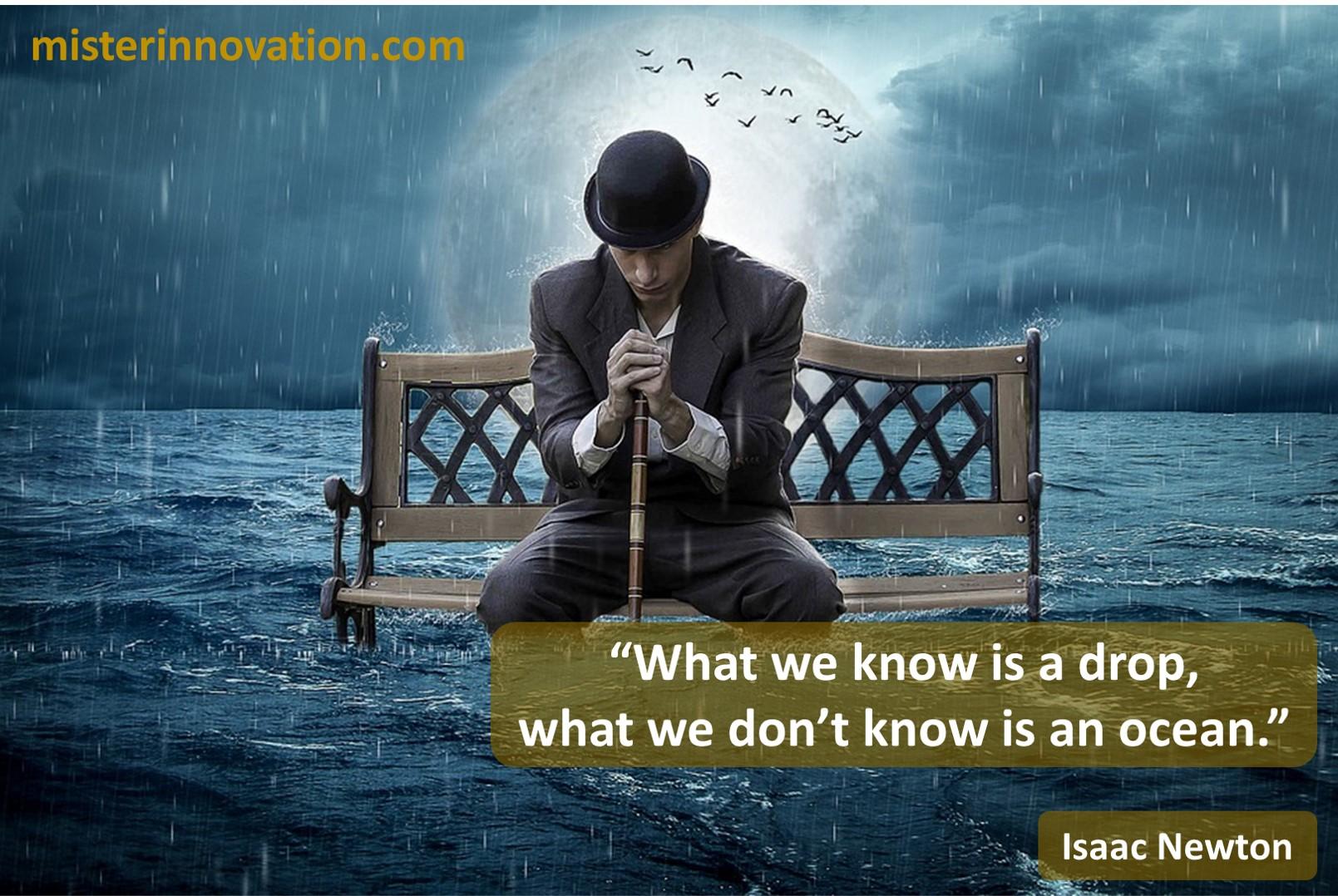 Isaac Newton Knowledge Ocean