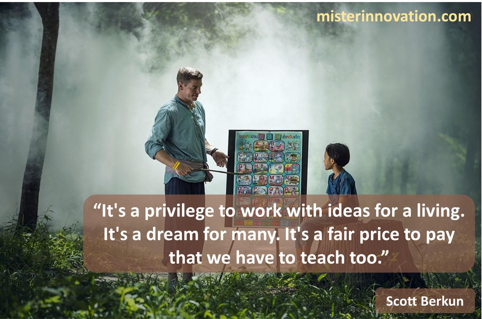 Scott Berkun Idea Work Teaching