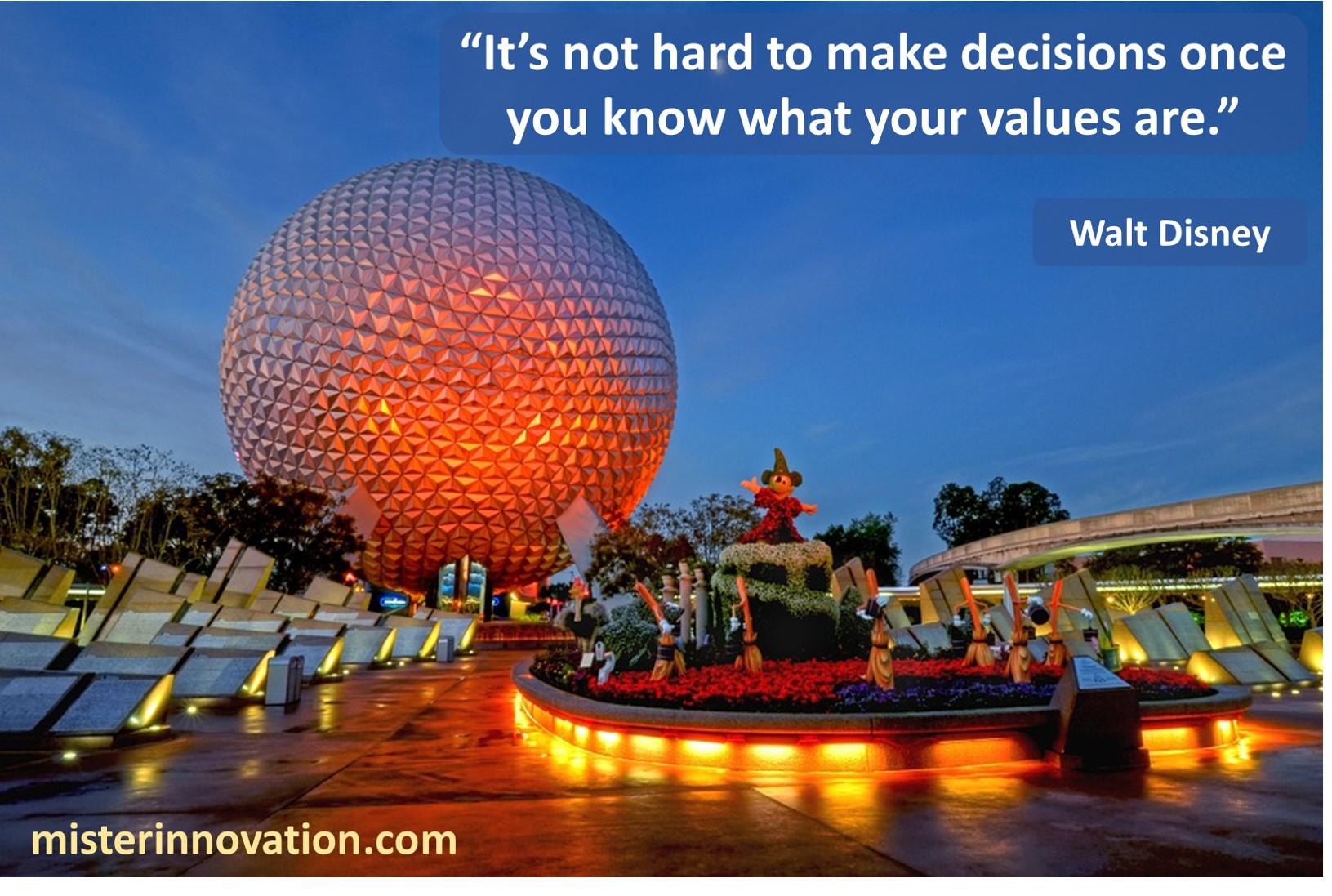 Walt Disney Values